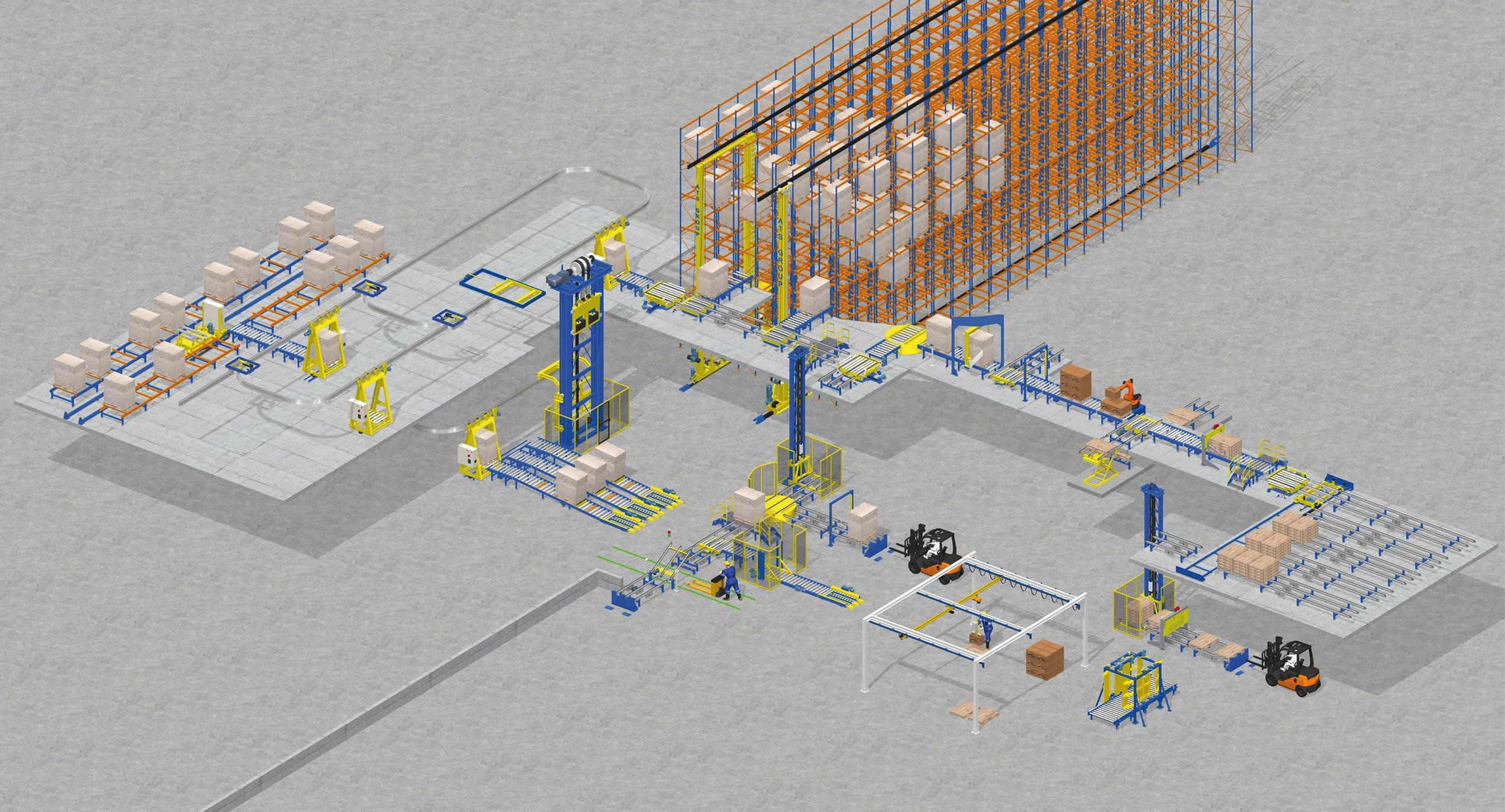 Pallet conveyor system workshop