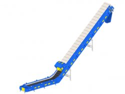 Chain conveyor with rubber band: the solid alternative fuel lifting