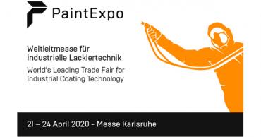 Besuchen Sie uns vom 21. bis 24. April 2020 auf die Paint Expo 2020 in Karlsruhe.
