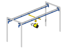 Light crane for handling tools: effortless guiding and positioning