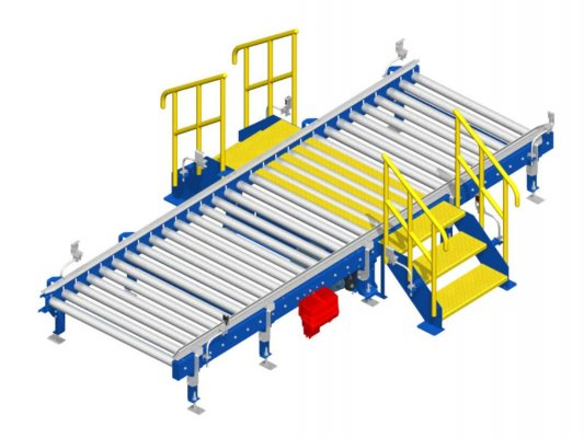 Stairway for roller conveyor