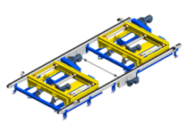 Cross transfer conveyor: lateral transient and storage
