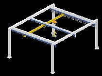 Light crane for workstation: isolated load handling