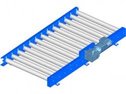 Floor roller conveyor