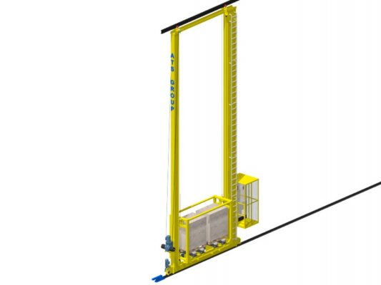 Stacker crane 2 mast