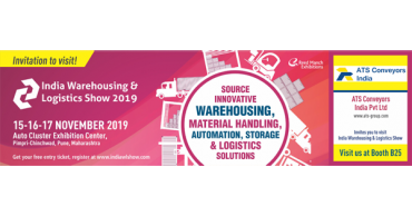 Come and meet us at the India Warehousing & Logistics Show 2019 in Pune from November 15th to 17th.