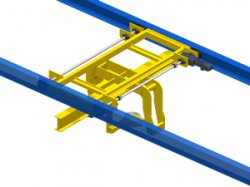 Overhead transfer car for friction conveyor: manage the parallel flow