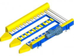 In out roller conveyor