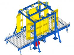 Pallet squaring unit
