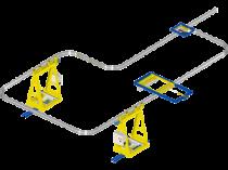 EHB Anlage: der autonome und modulare Hängebahn