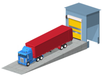 Truck unloading stations: in automatic mode