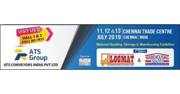 Besuchen Sie uns vom 11. bis 13. July 2019 auf LOGMAT show in Chennai.