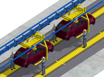 Operator transport belt: zero relative speed for added safety and quality