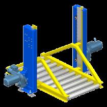 Elévateur compact sans fosse pour convoyeur à rouleaux au sol : rattraper le niveau de manutention